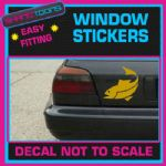 FISHING FISH CAR VAN WINDOW GOLD STICKER SIGN DECAL
